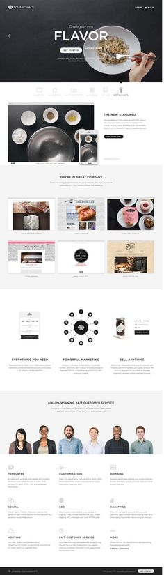 Squarespace nice clean layout and design