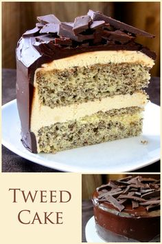 Tweed Cake - Based upon the Newfoundland favorite old fashioned cookie squares, this recipe takes the concept to a whole new level and makes a fantastic celebration cake too.