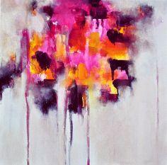 Lluvia 56  original pintura abstracta 12 x 12