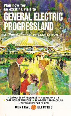 NY World's Fair GE Progressland brochure 1964    36 page guide for the New York 1964-1965 World's Fair. Came in the February 11, 1964 issue of LOOK magazine.