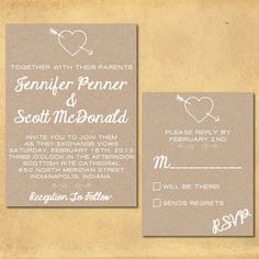 "Wedding Invitation Set: ""Rustic Charm"" (A ""Print It Yourself"" Design). $55.00, via Etsy."