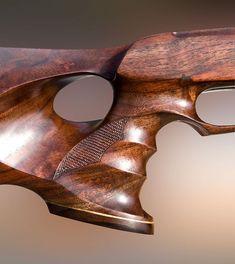 Thumbhole sporting custom air rifle stocks, Weapons Guns, Guns And Ammo, Crosse, Rubber Band Gun, Rifle Stock, Bolt Action Rifle, Gun Art, Combat Knives, Custom Guns