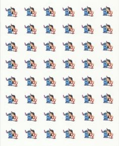 "48 Lilo and Stitch Envelope Seals / Labels / Stickers, 1.2"" Round"