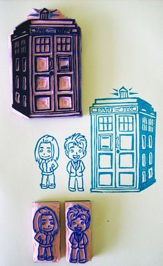 Doctor Who stamps for wedding invitations. Um, yes, these will happen.