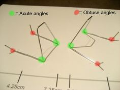 Teach acute angles, obtuse angles, and measuring by building an iPhone stand out of a paper clip!  (Dean and Ying's Blog - iPhone Paper Clip Stand)