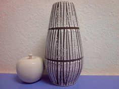 Scheurich bamboo ceramic vase 50s 60s mid-century design WGP German art pottery