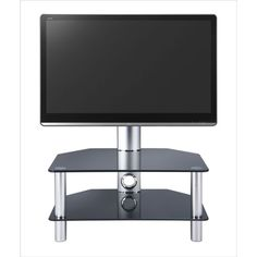 Two- tier plasma is outstanding glass Plasma stand capable of supporting up to comes with high strength thick chromed for additional support. Black Corner Shelf, Corner Shelves, Wall Mounted Entertainment Unit, Tv Stand Furniture, Glass Tv Stand, Lcd Television, Tv Shelf, Safety Glass, Tv Unit