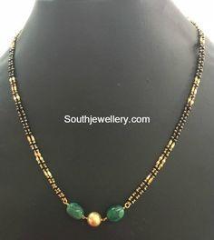 Light Weight Black Beads Mangalsutra Chains photo