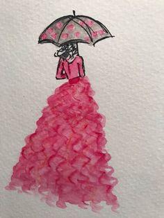 My original watercolor dress using SU Watercolor pencils and aquapainter-- my video link-- https://www.facebook.com/tandra.boyer/videos/10154906988604439/