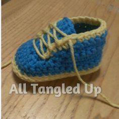 Ravelry: Baby Sneakers pattern by Angela Bergeron
