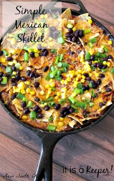 This simple Mexican Skillet is a great quick and easy recipe.  It's easy to make and packed with flavor!