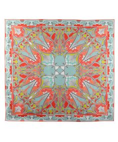Coral Red Ianthe Silk Scarf, Liberty London
