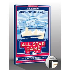 """Minnesota Twins 2014 MLB All-Star Game Sports Propaganda 20"""" x 26"""" Canvas Print - $63.99"""