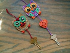 crotchet owl key chains..love them!! Got to try and make one for mom