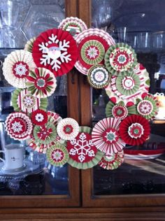 lollie wreath by Sue Redden-Bailey Rudolph Christmas, Christmas Paper, Handmade Christmas, Christmas Wreaths, Christmas Crafts, Christmas Decorations, Paper Wreaths, Wreath Crafts, Cute Crafts