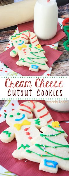 Cream Cheese Cutout Cookies - not only beautiful for Christmas cookie trays, but a fun activity to do with the kids this Christmas season!
