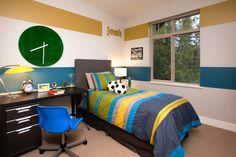 Casual Suite, Secret Ridge - contemporary - Kids - Vancouver - i3 design group. LOVE THE PAINTING SCHEME