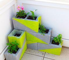 Neon Concrete Planters | 27 Neon DIYs That Pack A Punch