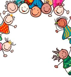 Happy Kid Clip Art Happy kids with smiling faces. Art Drawings For Kids, Drawing For Kids, Art For Kids, Boarder Designs, Kids Graphics, Bible Crafts For Kids, Kids Background, Face Icon, Child Smile