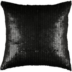 "Rizzy Home 18"" x 18"" Black Pillow - Black"