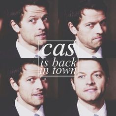 Cas is back in town Supernatural Season 9, Supernatural Convention, Supernatural Destiel, Castiel, Misha Collins, Friendship Over, Even When It Hurts, Keep Fighting, My Soulmate