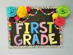 I love a cute and colorful back to school bulletin board. And, most often my boards have a similar look year after year. I wanted to take a few minutes to share some of them and tell you about them. I