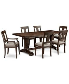 Briarcliff Dining Furniture, 7-Piece Set (Table, 4 Side Chairs & 2 Arm Chairs), Only at Macy's