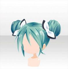 Chibi Hair, Pelo Anime, Manga Hair, Kawaii Chibi, Hair Reference, Estilo Anime, Character Design Animation, How To Draw Hair, Anime Outfits