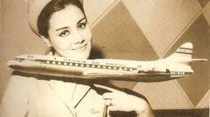 Comissária de bordo da Panair do Brasil                                                                                                                                                      Mais