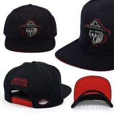 Northern Force Football Team Snapback Hat - Black w/ Red Under Visor - Exclusive Release by CapEaters   http://www.capeaters.com/collections/football-team-hats/products/northern-force-black-red-under-visor-snapback