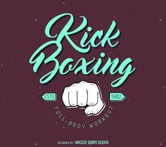 Kick-boxing logo template
