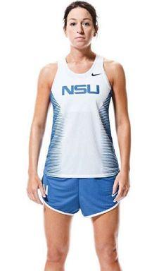 N S U Nova University Track Uniform Nike Women Med Shorts Jersey Running Fitness #Nike #uniform