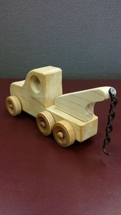 Great Wood Projects For Kids – WoodworkeRealm Wooden Toy Trucks, Wooden Car, Wooden Toys, Woodworking Toys, Woodworking Projects, Wood Toys Plans, Natural Toys, Wooden Crafts, Wood Projects