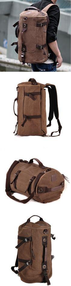Shoulder Bag Men Canvas British Backpack Fashion Student Outdoor Rucksack