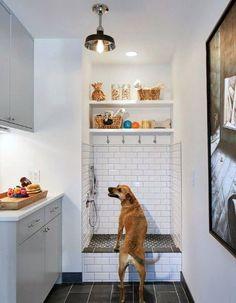 (paid link) Dog Bathing Station | Pet & Dog Bathing Systems | Pumps #dogbathingstation Animal Room, Mudroom Laundry Room, Laundry Room Design, Laundry Area, Dog Bathing Station, Interior Design Living Room, Living Room Designs, Design Wood, Tile Design
