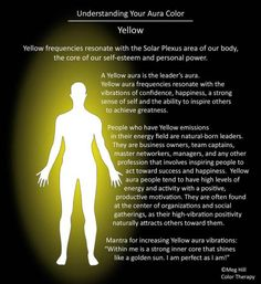 Yellow Aura Description