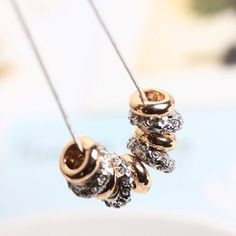 £2.85 Chic Diamante and Golden Ring Pendant Necklace For Women, GOLDEN in Necklaces   DressLily.com