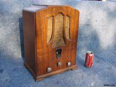Antique Vintage Tube Radio 1930s Wood RCA Radiola R7