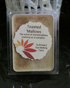 Check out this item in my Etsy shop https://www.etsy.com/listing/210776450/toasted-mallows-scented-soy-clamshell