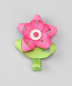This Pink Tulip Clip by Hair Flair is perfect! #zulilyfinds