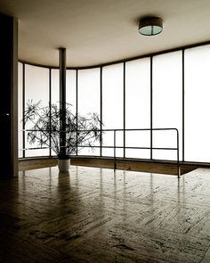 Built-in light walls give the illusion of windows. ludwig mies van der rohe / villa tugendhat, brno