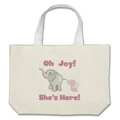 Elephant She's Here Canvas Bags  Click on photo to purchase. Check out all current coupon offers and save! http://www.zazzle.com/coupons?rf=238785193994622463&tc=pin