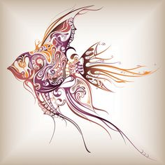 Abstract Fish Wallpaper | ... Wallpapers Paper-cut fish - Animal, iPad, iPad 2, iPad mini Wallpapers