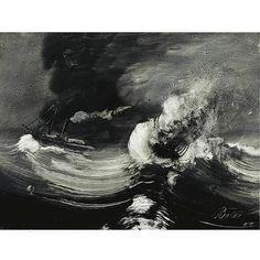 f - Peder Balke Norwegian 1804-1887 , uvær (the tempest)
