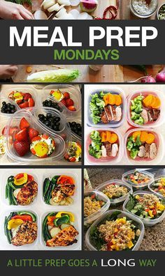 Prepping even just a few meals can set you on the right track for eating healthy during the week. Get some inspiration from these simple dishes!  // 21 Day Fix // Meal Prep Mondays // beachbody //fitness // fitspo // workout // motivation // exercise // Meal Prep // diet // nutrition // Inspiration // fitfood // fitfam // clean eating // recipe // recipes