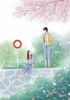 Cute Couple Drawings, Cute Couple Cartoon, Cute Couple Art, Cute Love Cartoons, Anime Love Couple, Anime Couples Drawings, Romantic Anime Couples, Cute Anime Couples, Cover Wattpad