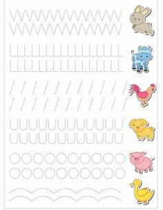 Schwungübungen - Everything About Kindergarten Kids Math Worksheets, Tracing Worksheets, Preschool Printables, Preschool Activities, Kindergarten Writing, Preschool Learning, Teaching, Pre Writing, Writing Skills