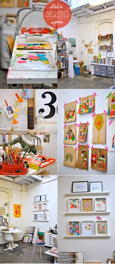 Pleaseee let me have a craft room (studio) this pleasing to the eye someday!