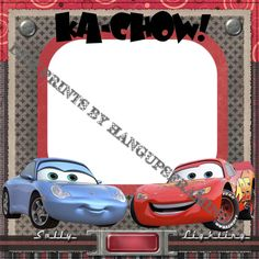 "Disney Scrapbook Page Layouts | Other eBooks - DISNEY PIXAR ""CARS""~DIGITAL SCRAPBOOKING~PAGE LAYOUTS ..."