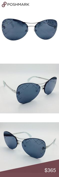 Beautiful Chanel Quilting Pilot Grey Mirror❤️ New pair of Chanel Sunglasses! Just tried in in excellent condition. Some minor hairline scratches from trying on. Grey Silver color frame with silver lens. If you want something between classic Chanel and Aviators these are the sunglasses to get! Absolutely gorgeous on! 100% Authentic CHANEL Accessories Glasses